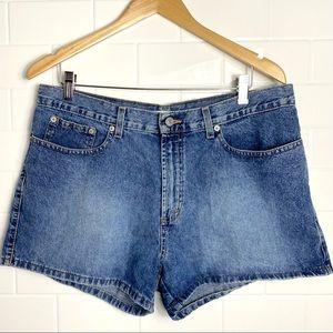 VINTAGE TOMMY HILFIGER Blue Denim High-Rise Shorts